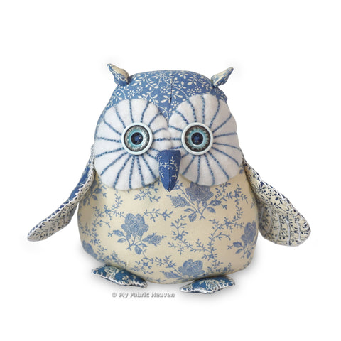 "Twinkle 6"" Starry-Eyed Owl Paper Soft Toy Sewing Pattern"