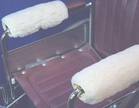 Shearling armrest, Footrest Covers/ Protectors