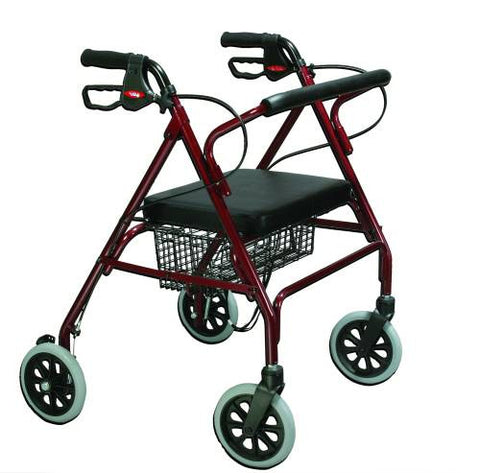Drive Medical Go-Lite Oversized Aluminum Rollator, 400 lbs capacity