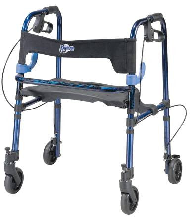 Clever Lite Walker With Seat And Loop Locks 1stseniorcare