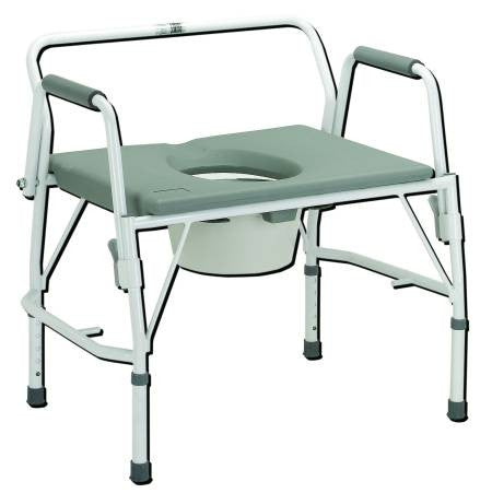 Drive Medical Oversized Drop Arm Commode,Free Shipping