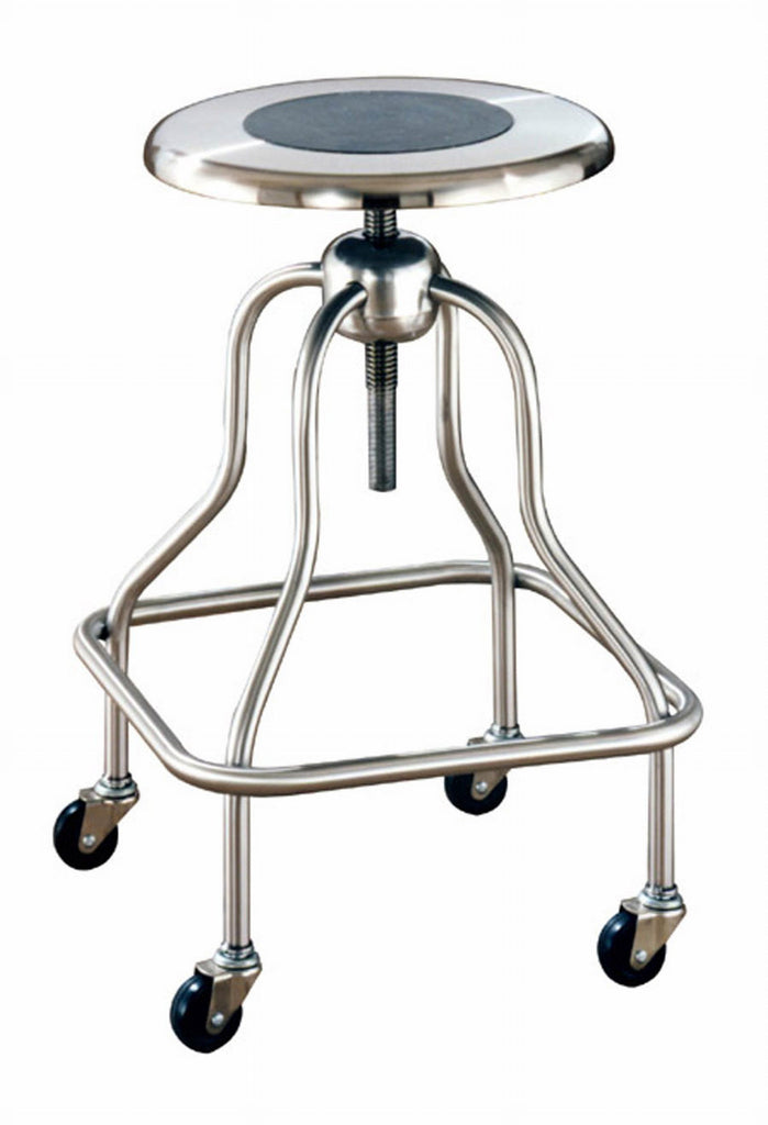 UMF stainless steel stool for corrosive environments or just long lasting durability, seat spins.