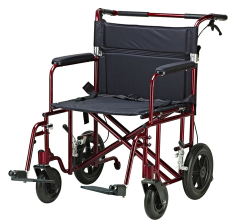 Drive Bariatric transport wheelchair ATC17 with 300 lbs capacity, free shipping