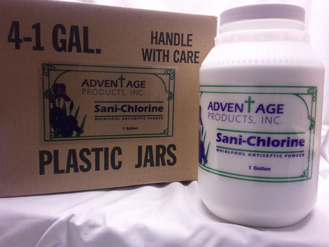 Sanichlor is the disinfectant of choice for InvaCare tubs.