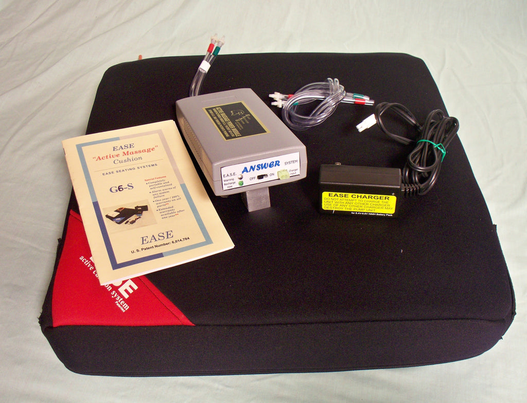 The answer cushion will help cure pressure ulcers, Shipped with batteries for portable use