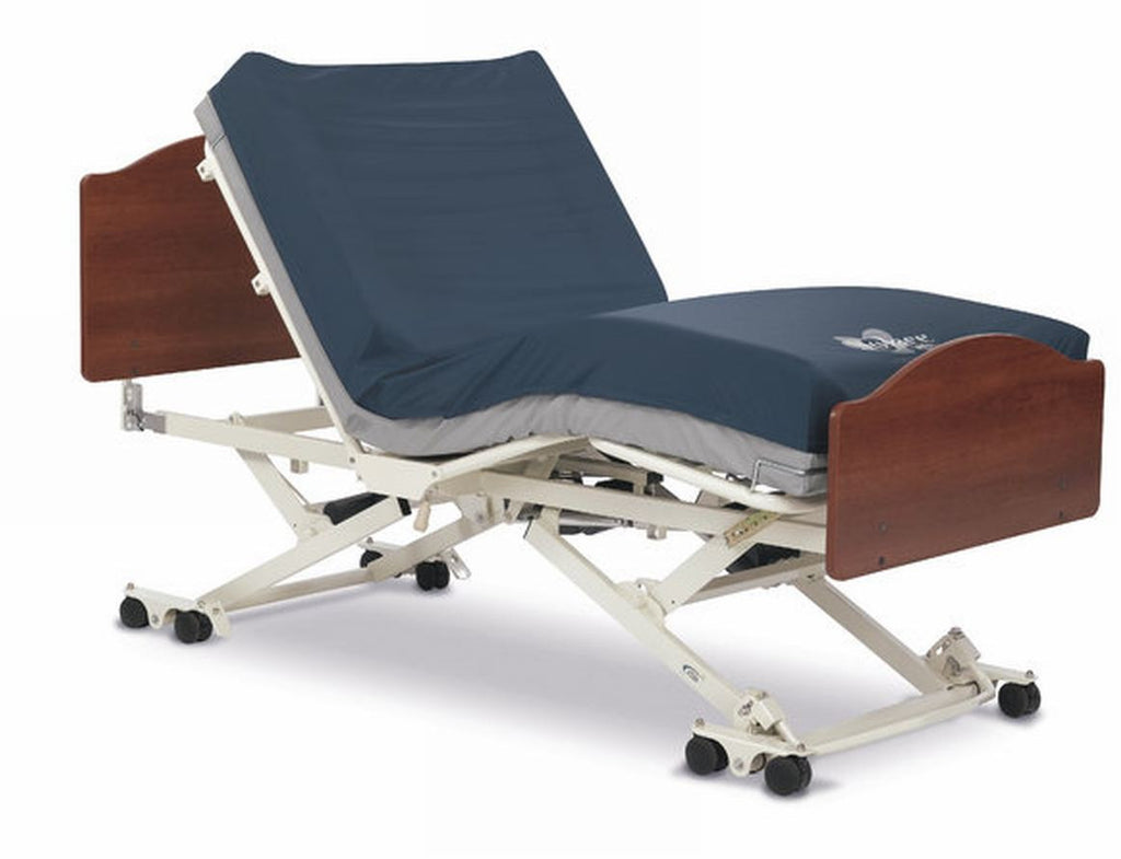 "The CS-7 high low bed (7"" low) is made by InvaCare and ships quickly"