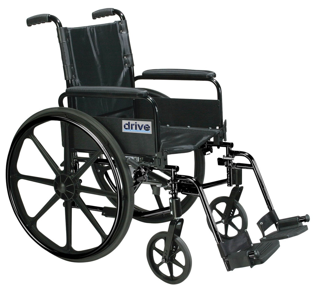 Drive Medical Cirrus IV Manual Wheelchair 300 lbs. Capacity ,Flip Back Full Arms