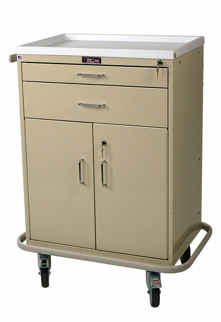 "Harloff Multi Treatment Cart, Standard Package, 1-3"", 1-6"" Drawers, and 1-21"" Storage Compartment with Adjustable Shelf"