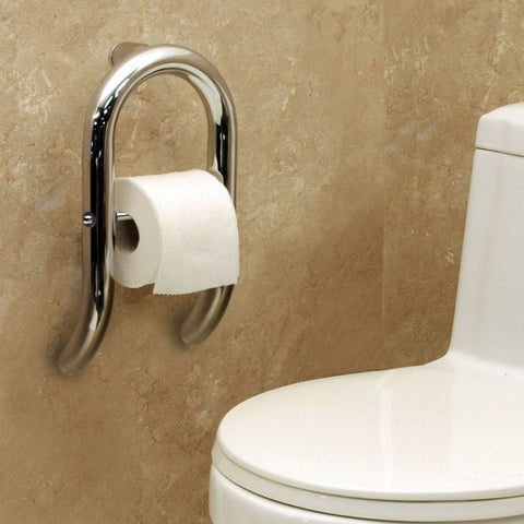 HealthCraft Products Invisia Collection Toilet Roll Holder grab bar