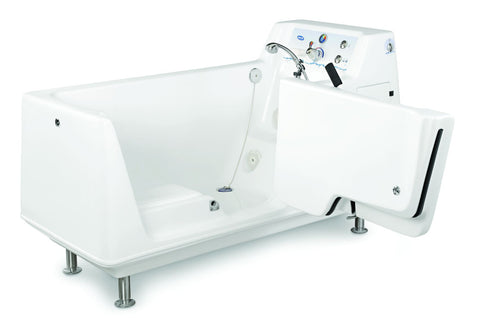 Invacare Free Standing tub IH3602G with hydrotherapy and enhanced sanitation with sanijet technology.