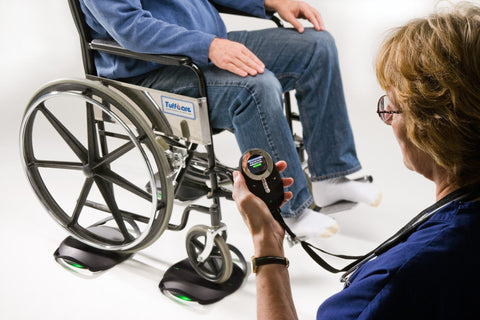 formerly innovision rice lake now makes the wirless wheelchair scale with up to 1200 lbs capacity