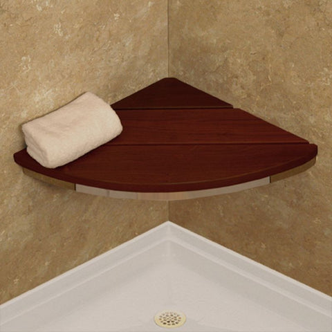 Healthcraft Products Invisia Collection Corner Seat in Brazillian Walnut