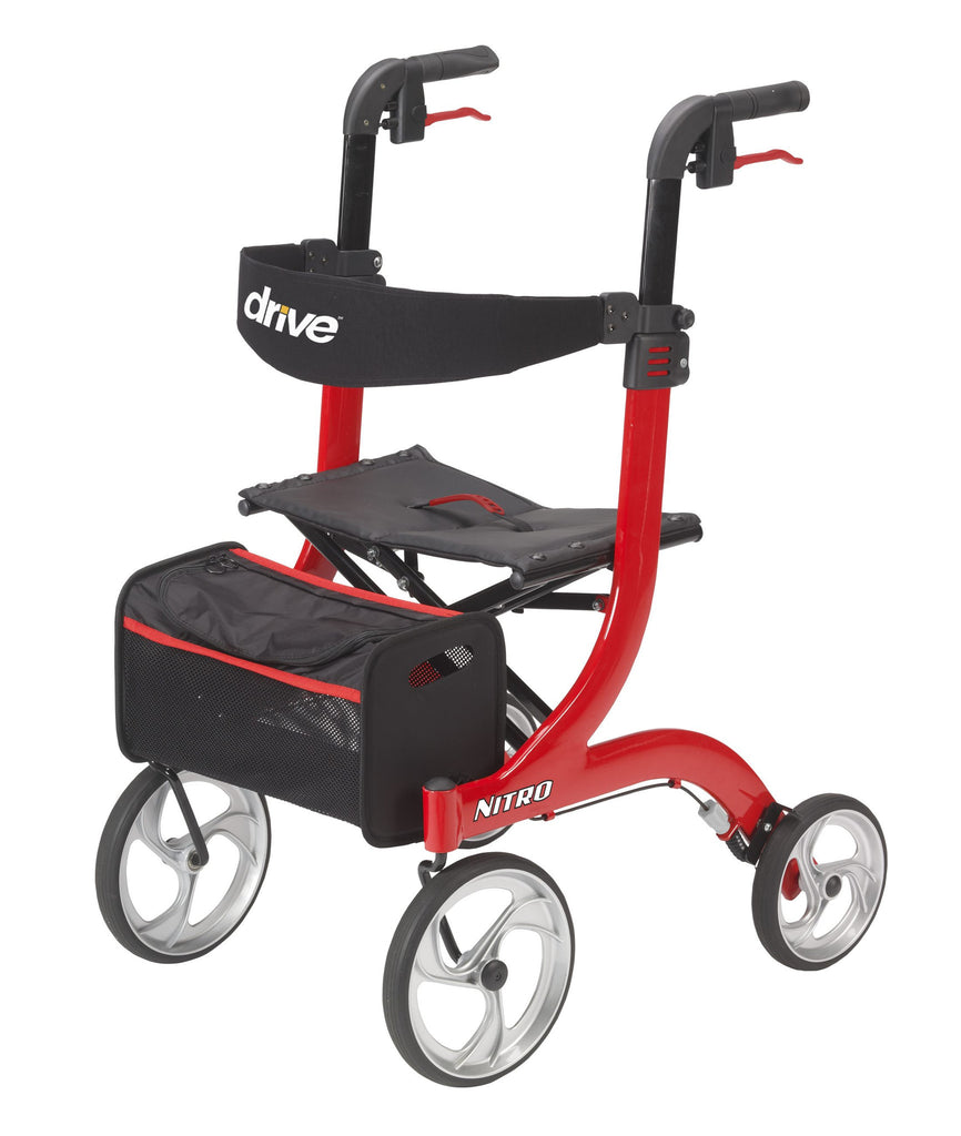 Drive Medical Nitro side to side folding rollator Free shipping.