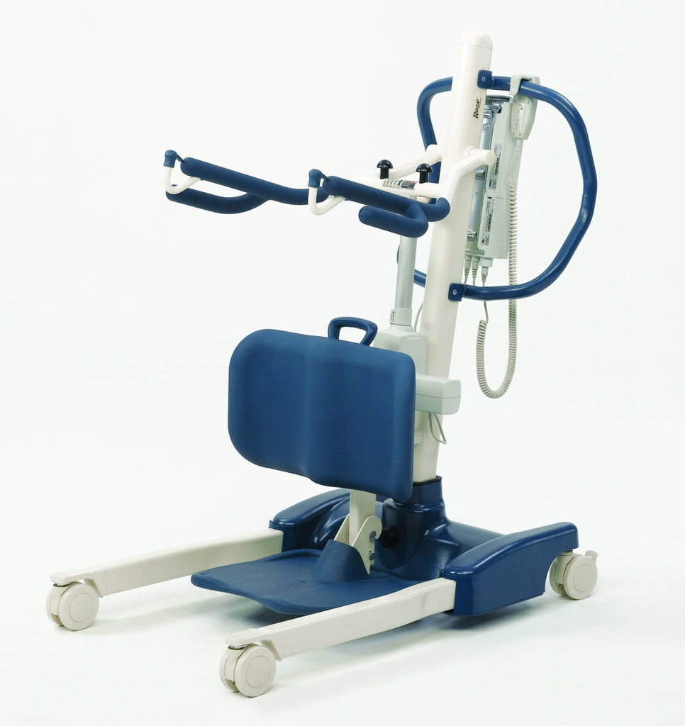 The Invacare Roze premium sit to stand lift has a higher weight capacity. It is a deluxe lift..