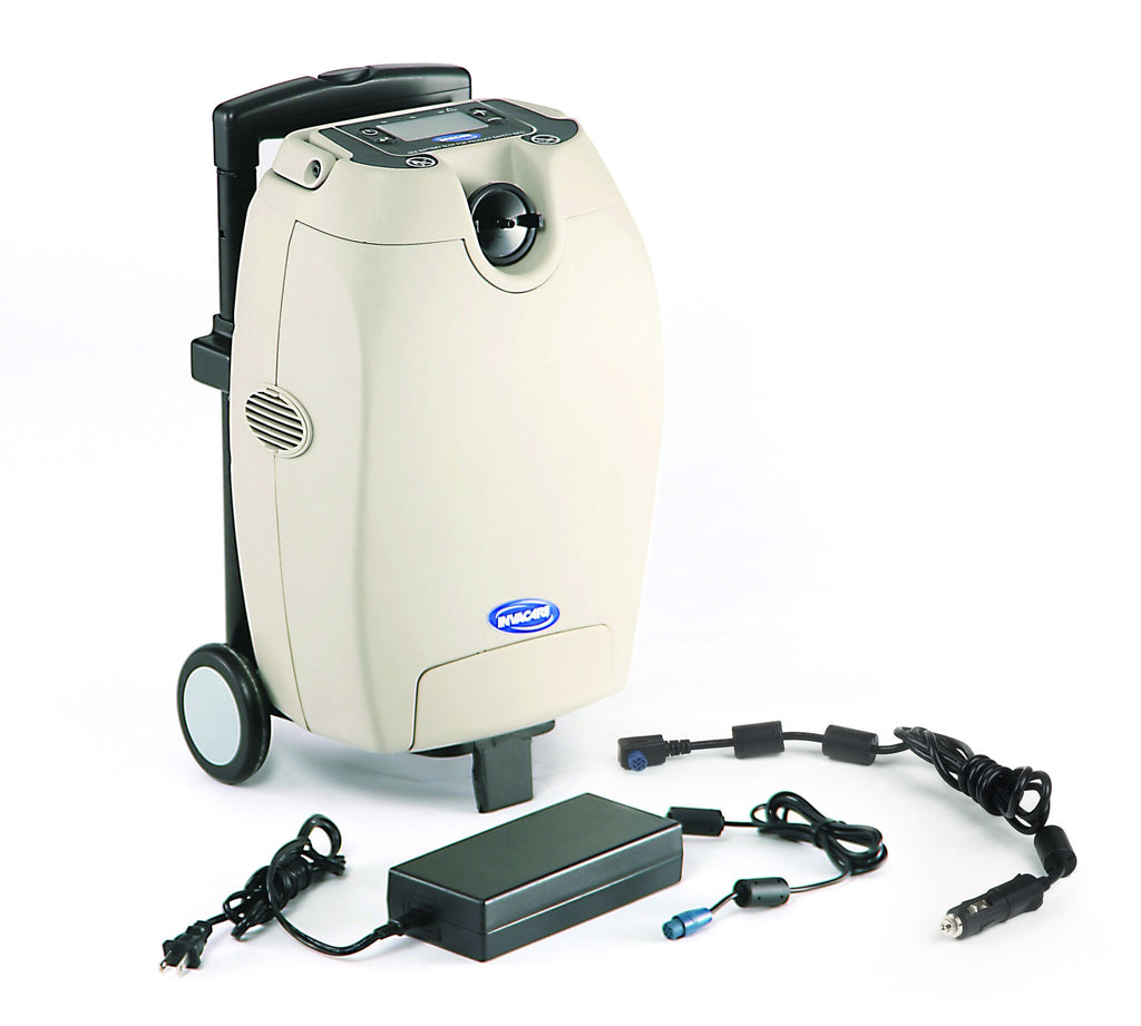 The Invacare O2 oxygen concentrator is portable and quiet for the discerning user