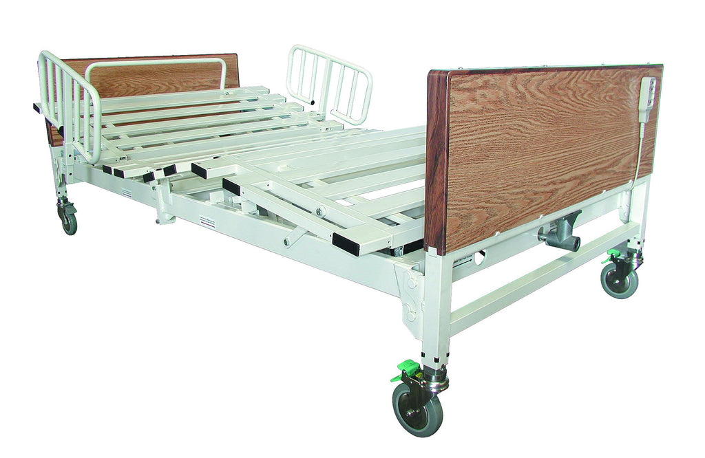 T5054HX Heavy Duty Homecare / Hospital Hi/Lo Bed, Mattress, & Rails, Free Shipping