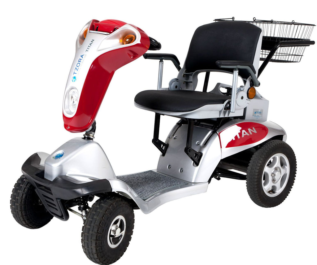 The Titan from Tzora is a heavy duty scooter that goes pretty fast. and carries a big load.