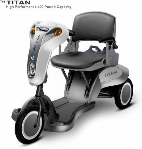 Titan 400 lbs Capacity Portable Power Scooter Three wheeled Electric scooter