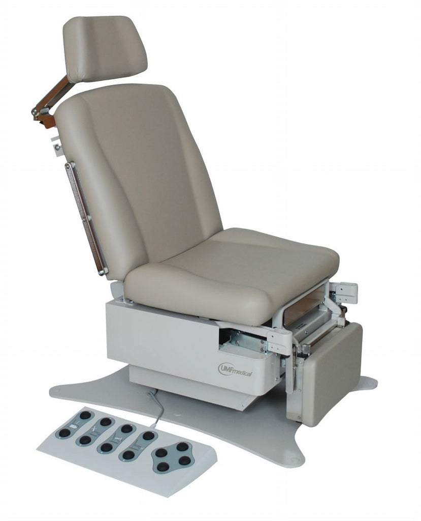 The UMF power procedure table has convenient  foot controls and 600 lbs capacity.