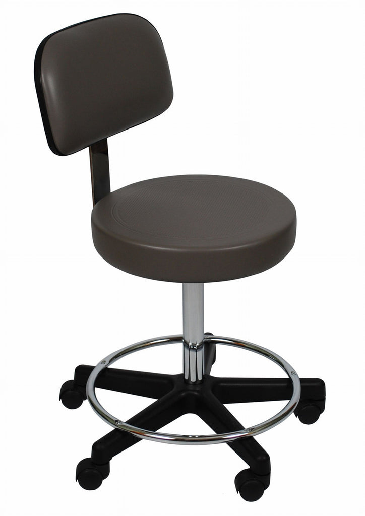 1stSeniorCare-UMF 6760 Ultra Comfort Stool with backrest, foot ring