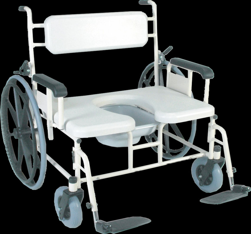 Convaquip Bariatric Shower Commode Transport Chair, Model 1324P-24