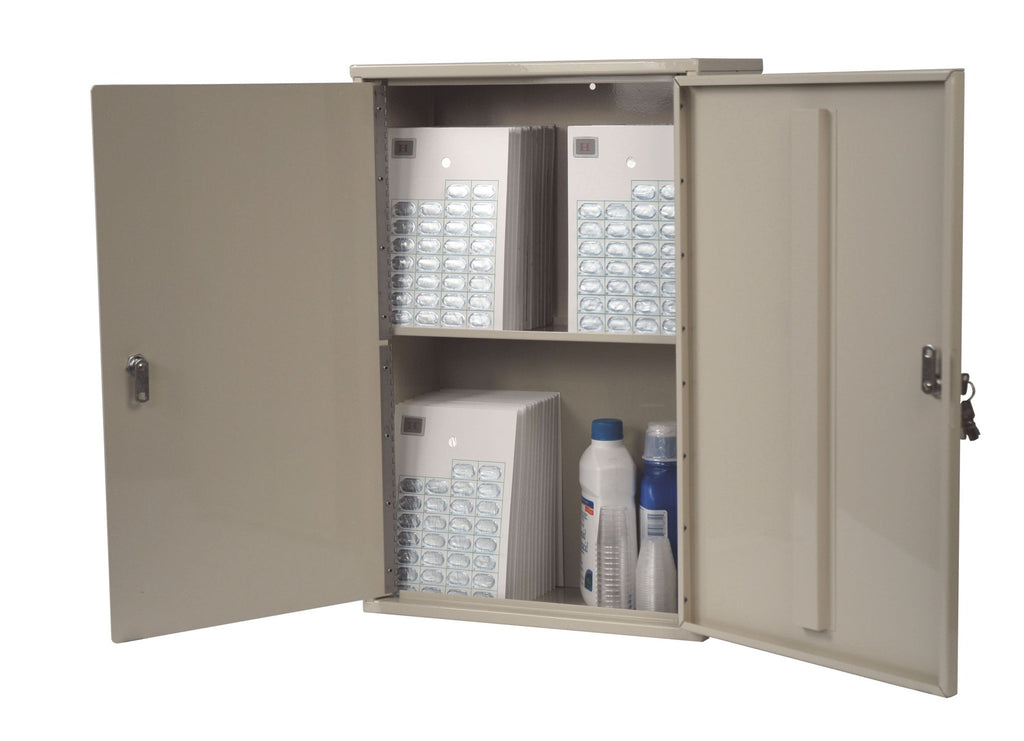 A secure medical and prescription cabinet, perfect for the medical professionals
