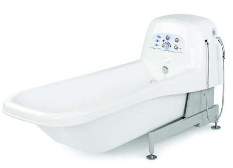 The InvaCare IH6302ADH is an adjustable height whirlpool tub with Sanijet technology.