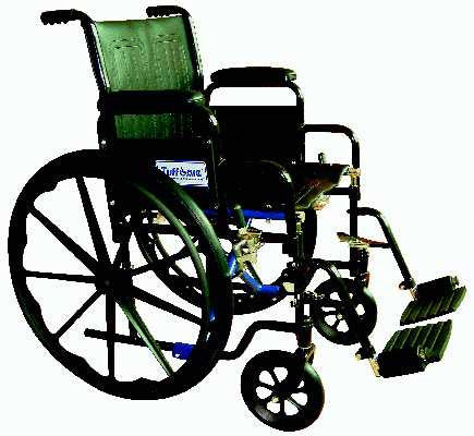 TuffCare 237 Venture Detachable Arm Manual Wheel Chair