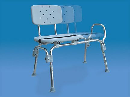classic sliding transfer bench, easy to use and adjustable height