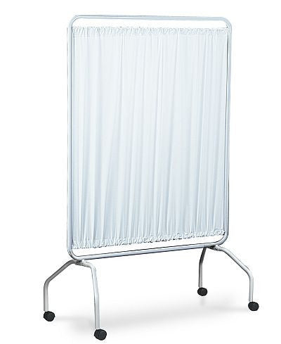 Winco curtain for privacy can be moved from place to place on provided wheels