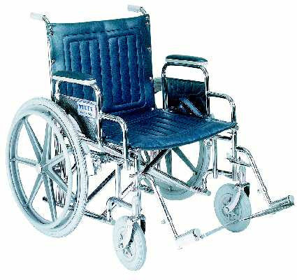 TuffCare 356 Wide Manual Wheel Chair with Detachable Arms