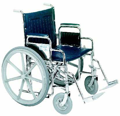 TuffCare 377 Deluxe Wide Manual Wheel Chair with Detachable Arms