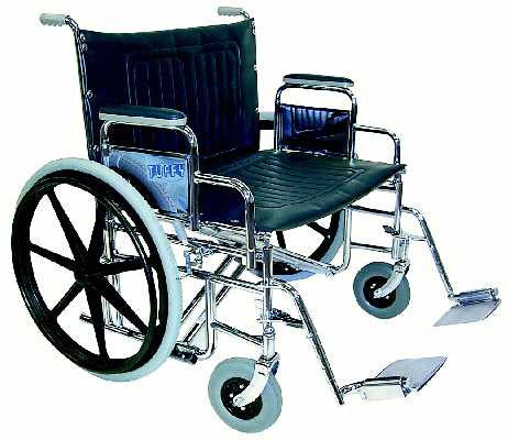TuffCare 397 Tuffy Deluxe Bariatric Manual Wheel Chair with Detachable Arms FREE SHIPPING