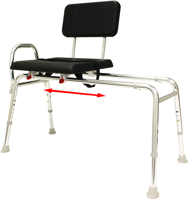 Eagle health 77181 padded transfer bench that slides longer