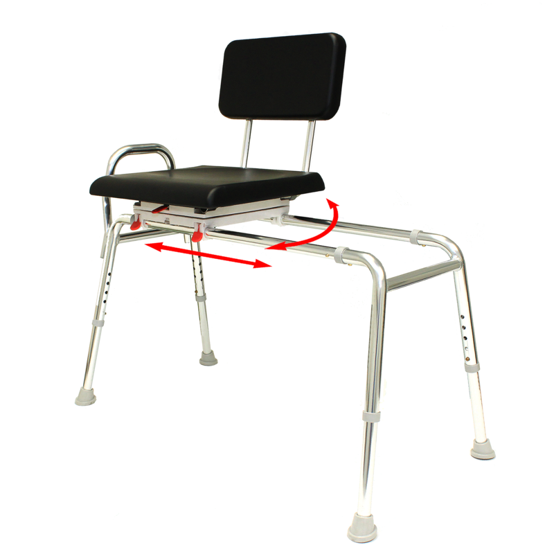 77661 Padded swivel transfer bench