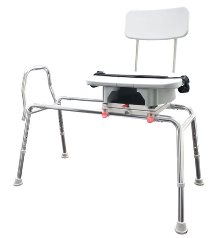 77663 Snap-n-Save Sliding Transfer Bench with Molded Cut-Out Swivel Seat with FREE SHIPPING