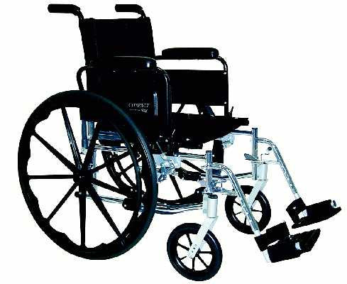 TuffCare 777 Compact Manual Wheel Chair with Swing Back Arms