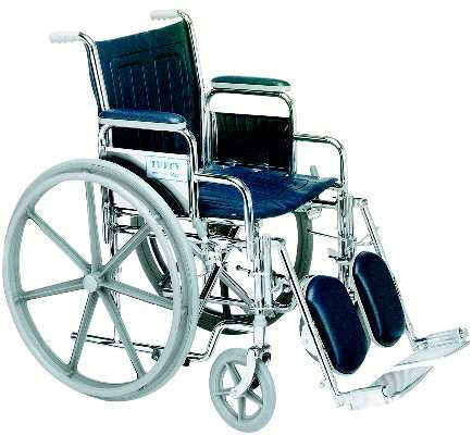 TuffCare 877 Deluxe Detachable Arms Manual Wheel Chair
