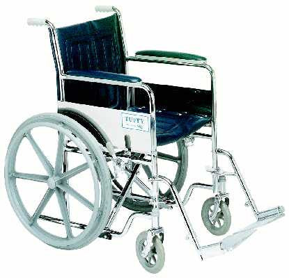 TuffCare 887 Tuffy Deluxe Hemi Fixed Arm Manual Wheel Chair