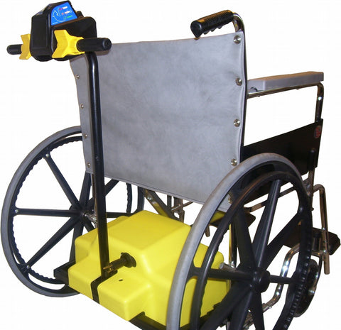 this 750 lbs wheelchair uses battery power to assist moving the patient which can be up to 750 lbs
