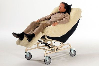 The Barrier Free Cosy Chair cradles you and helps you relax. Provides high degree of comfort and safety for high risk individuals.