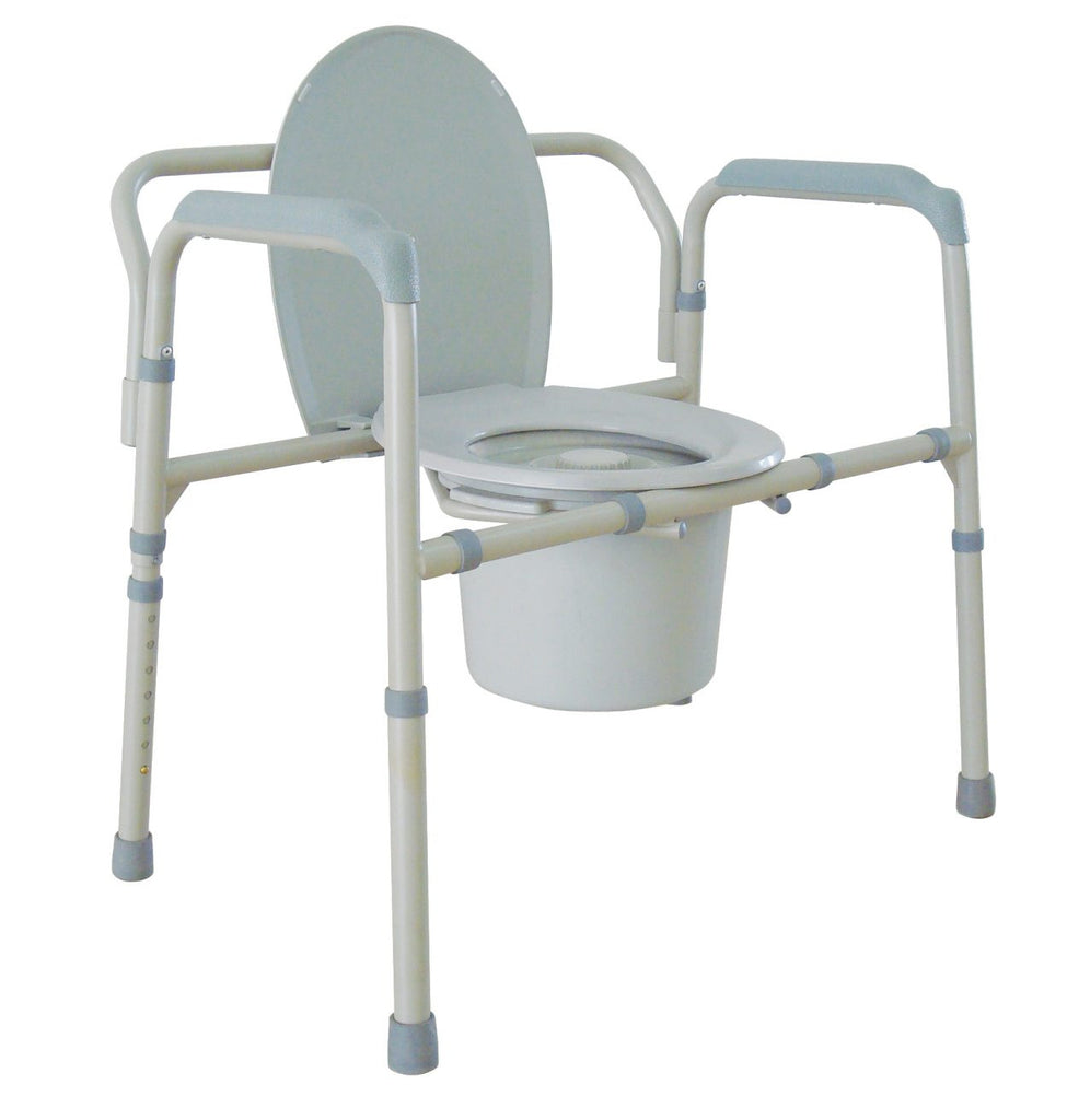 Drive Medical Oversized All-in-One Steel Commode 650 lbs