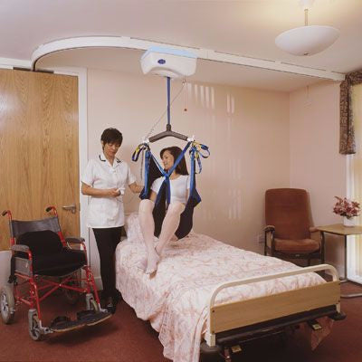 Barrier Free ceiling mounted patient lifts in custom configurations and weight capacities