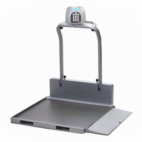 2650KL ProPlus portable/folding digital wheelchair scale w/1000 lbs. cap.  and  handrails - lb/kg - One RAMP, Free Shipping