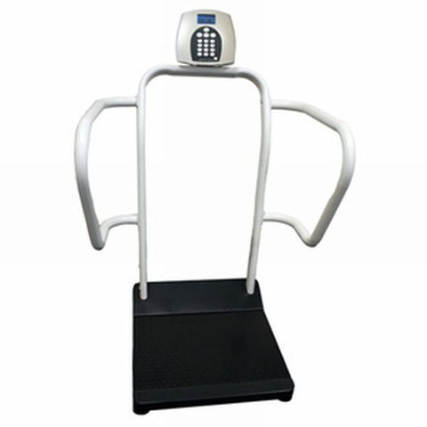 1100KL Digital platform scale 700 lbs capacity Bariatric scale with handrails. Accurate scale