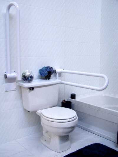 HealthCraft P.T. Rail , in HINGED Position, for improved independence from HealthCraft Products