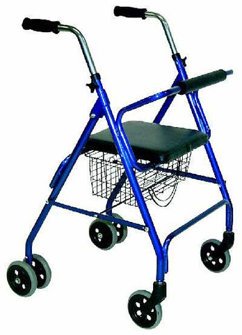 TuffCare R410 Walker, Dual Rear Wheels make this a stable six wheeled rollator