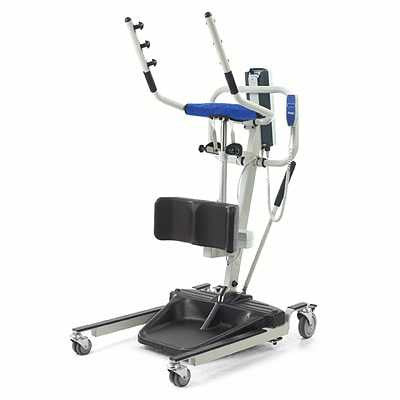 The Invacare Reliant RPS350 is a sit to stand lift that is fully electric and is helpful in transfers too.