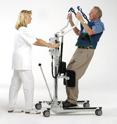 The Barrier Free Raisa lift is useful for moving patients without the ability to walk but can stand. Complies with zero lift policy.