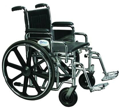 Drive medical Sentra wheelchair is a very stable wheelchair that rolls easily